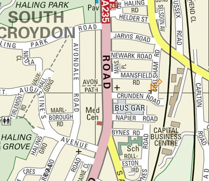 Map of the Harvest Centre location