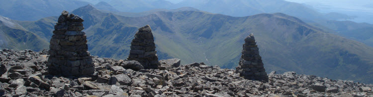 Three Cairns Counselling banner image - from Ben Nevis, Scotland