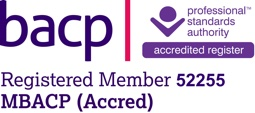 Official logo of Val Freeman as an Accredited Counsellor of the BACP (British Association of Counselling and Psychotherapy)